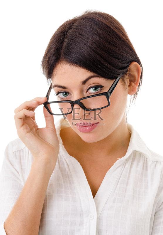 衣 肖像 看 近视 人的头部 仅女人 白人 白领 不确定 秘密行动 女性 问