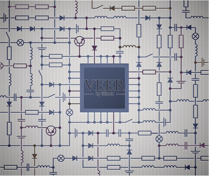 图表 背景 电路板 做计划 绘画插图 发展 物理学 中央处理器 晶体管 图片