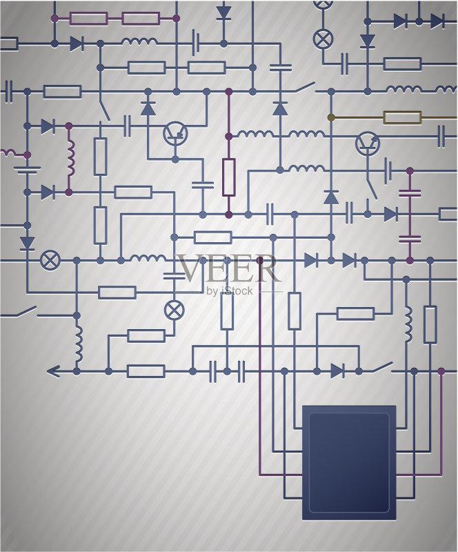 机制图 背景 电路板 做计划 电 计划书 绘画插图 发展 物理学 电子元件 图片