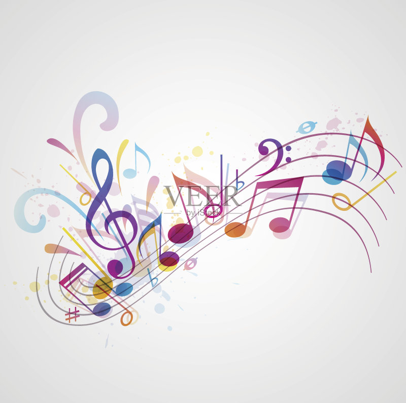 音符 设计 高音谱号 绘画插图 音乐风格 点状 符号 音乐符号 无人 华丽