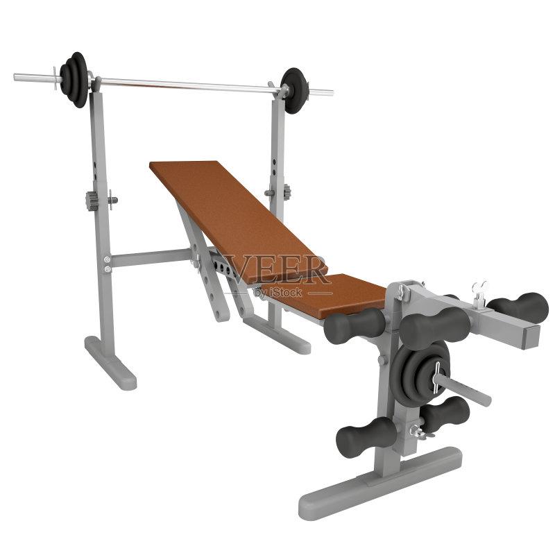 长椅 标志 举重训练 运动 无人 健身房 黑色 健身器械 模拟器 褐色 静止图片