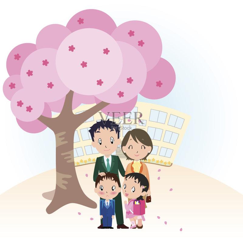 女孩 女人 卡通 与摄影有关的场景 男性 日本人 儿童 父女 3到4个月 图片