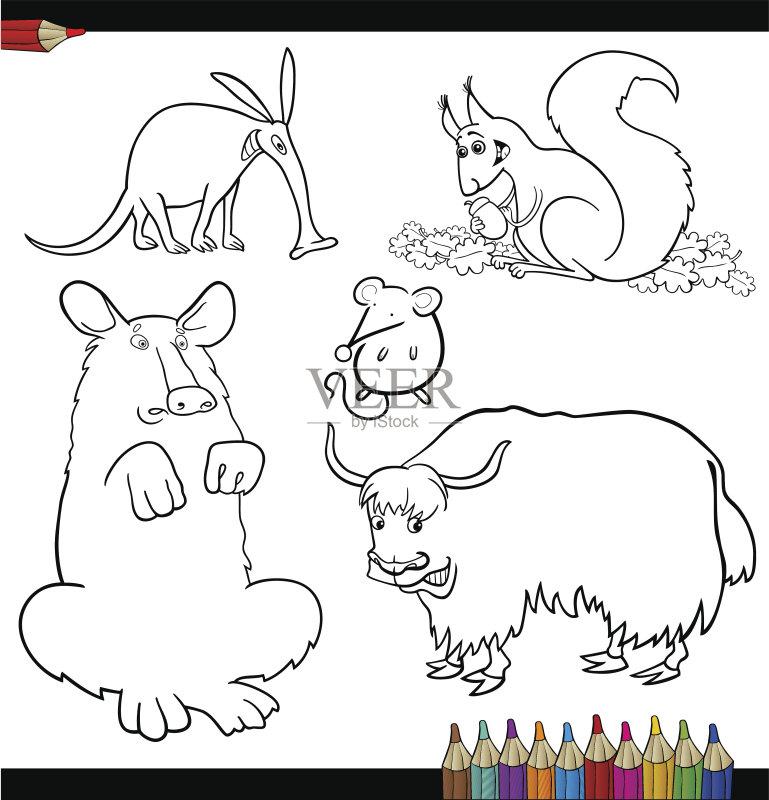 野生动物 鼠 剪贴画 背景 性格 幼儿园 幽默 讽刺漫画 书页 休闲游戏