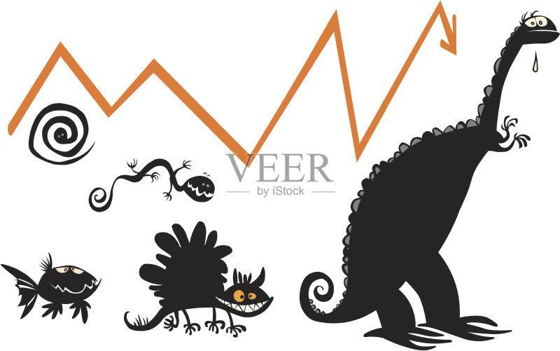 进化 鱼类 剪贴画 图表 幽默 生物学 绘画插图 恐龙 历史 箭头符号 动
