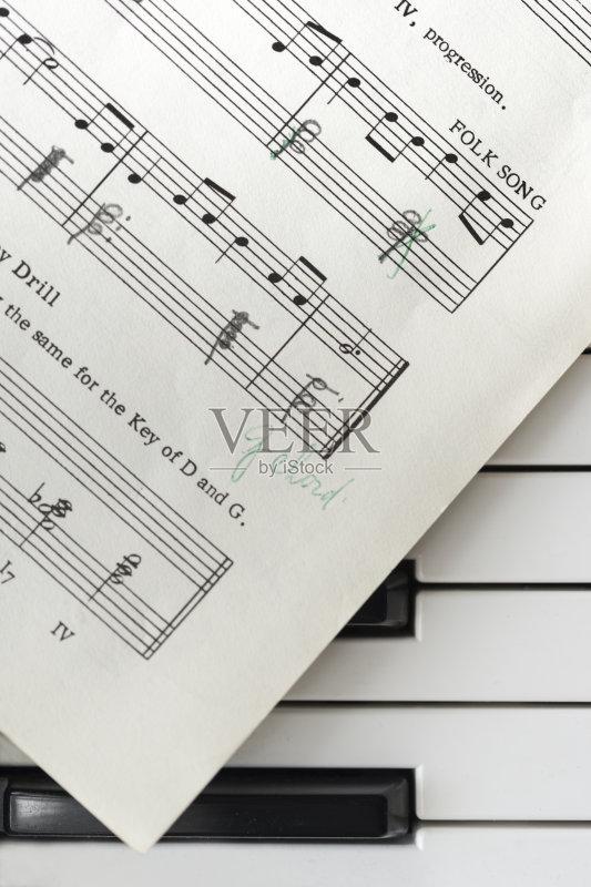 噪声 符号 乐谱 协调 钢琴键 音乐 构图 古典乐 阶调图片 黑色 作曲家