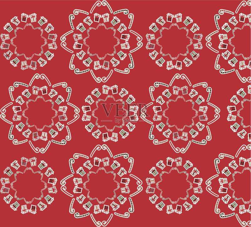图案-甘蔗糖 十二月 节日 设计 星形 白色 冬天 符号 式样 形状 礼物 图书