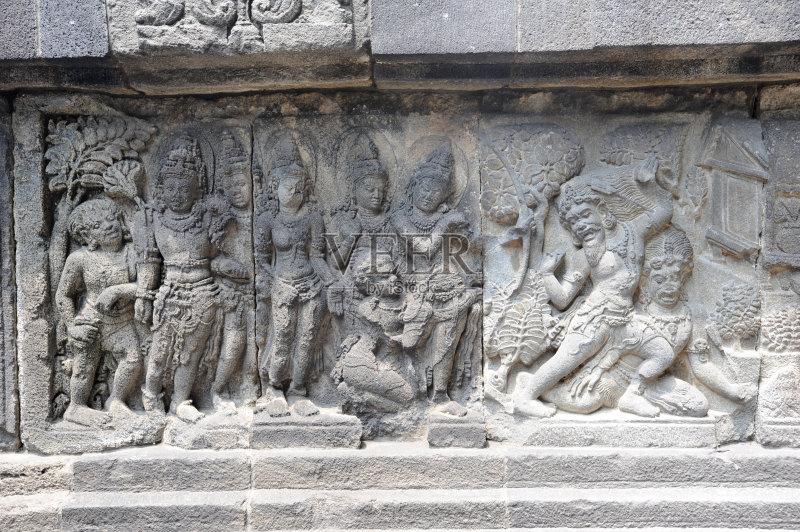 西亚 爪哇 浅浮雕 印度教 历史 寺庙 印度尼西亚文化 世界遗产图片
