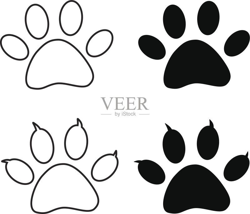 剪贴画 楼梯 熊 小狗 痕迹 小猫 动物斑纹 宠物 动物足 绘画插图 步行