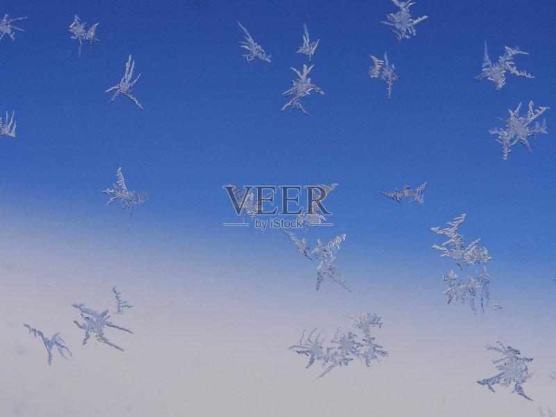 白色 冬天 梦想 明亮 窗户 式样 银色 从容态度 银 仅一朵花 自然 渴望 图片