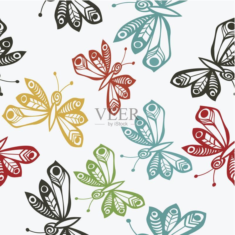 图案-动物斑纹 绘画插图 式样 形状 昆虫 夏天 自然 黄色 无人 背景幕 浪