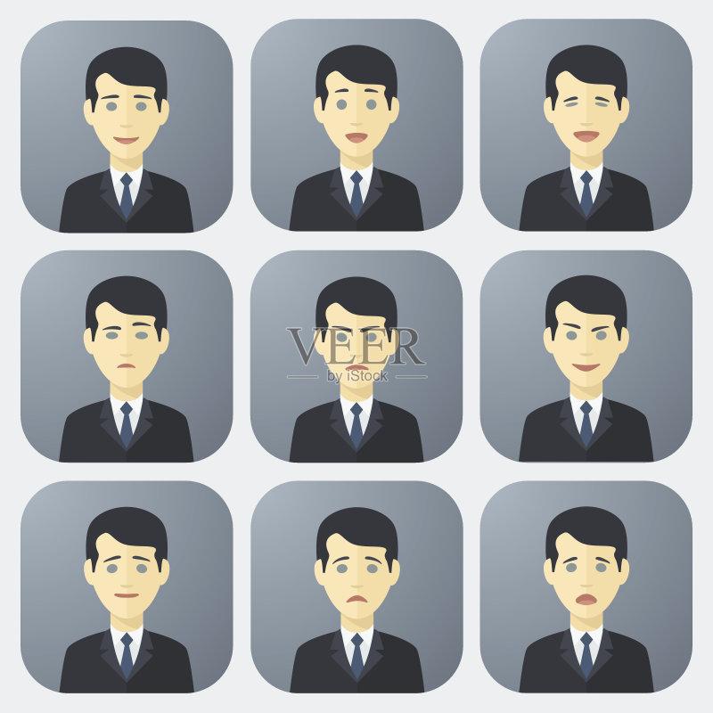 情绪-人 白色 卡通 肖像 符号 舞台布景 男性 教师 运动员 仅青少年 经理