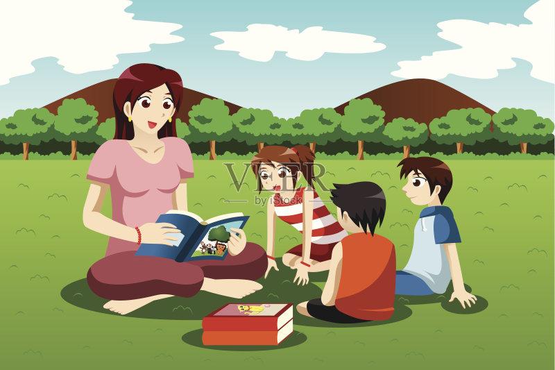 性 学习 草 剪贴画 现代 幼儿园 户外 男孩 知识 童年 儿童教育 绘画插
