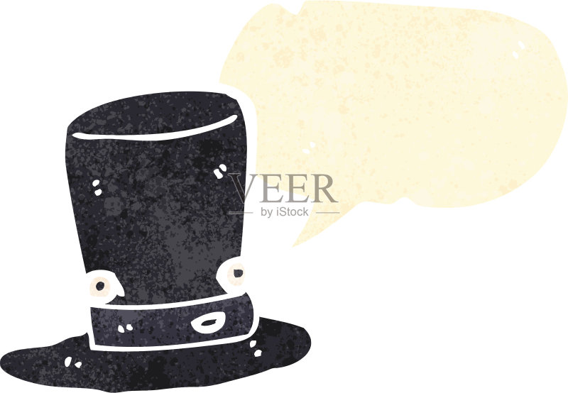 量 多色的 大礼帽 剪贴画 人的脸部