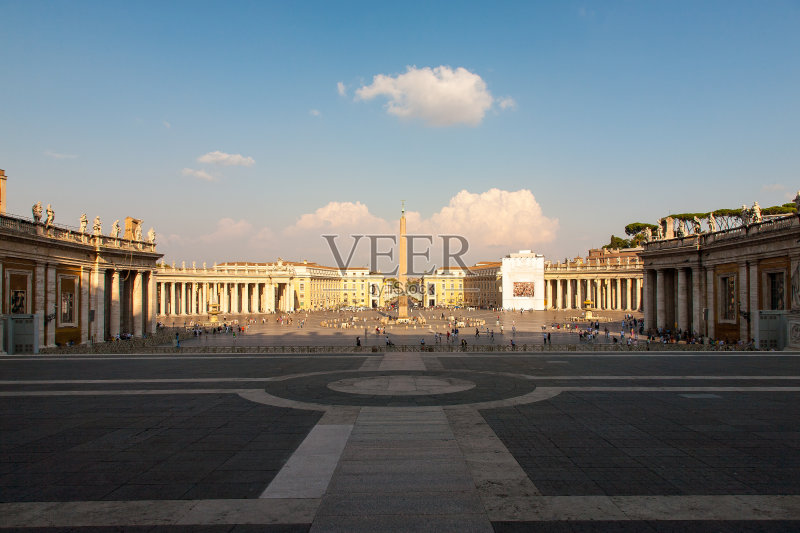 旅行 旅行者 意大利文化 宏伟 国际著名景点 圣彼得广场 梵蒂冈城 度