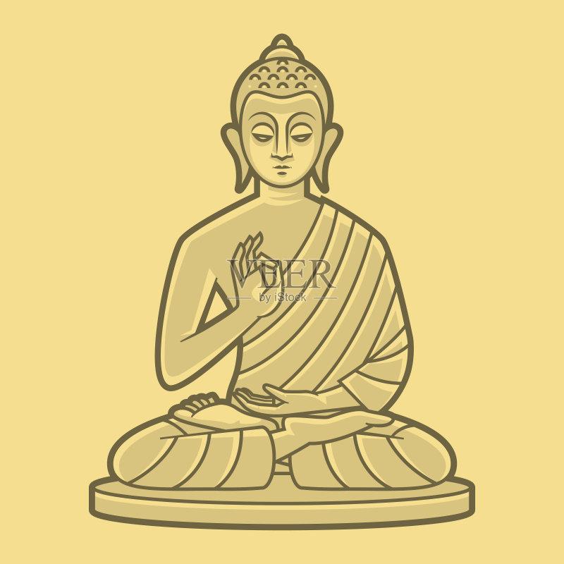 瑜伽 铅笔画 人 想法 卡通 符号 神 男性 同意 和蔼之人 宗教 亚洲 苦尽甘