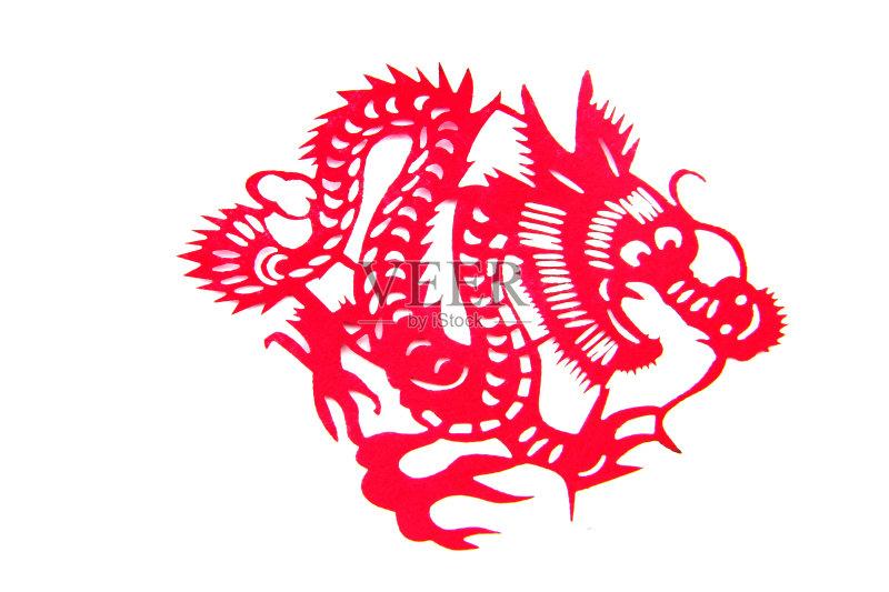 剪纸-动物斑纹 文化 白色 手艺 原生态文化 运气 美 红色 式样 美术工艺 图片