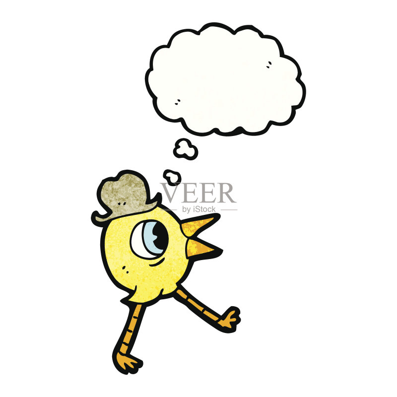 有趣-幽默 文化 思考 可爱的 绘画插图 思想气泡框 动物 快乐 乱画 奇异图片