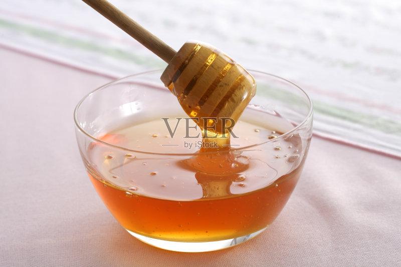 蜜蜂 甜食 蜂蜜 甜点心 瘦身 汤匙图片