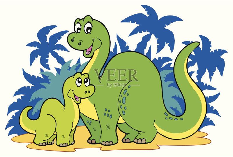 画插图 恐龙 美术工艺 历史 野外动物 动物 沙子 艺术 侏罗纪 快乐 动物