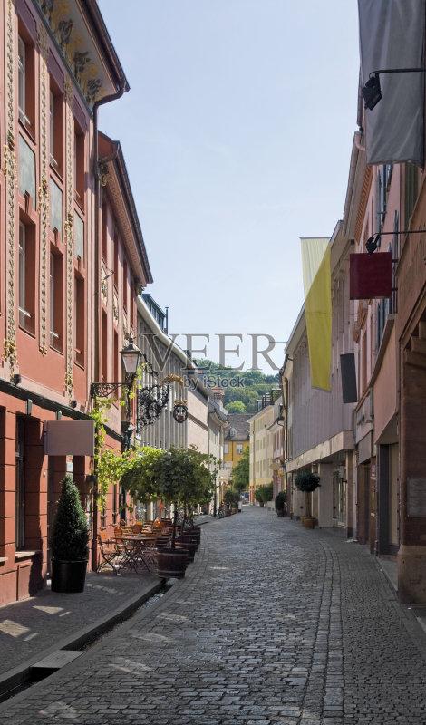街景-文化 市区路 建筑特色 巷 住宅内部 晴朗 联排别墅 弗赖堡 路 步行图片
