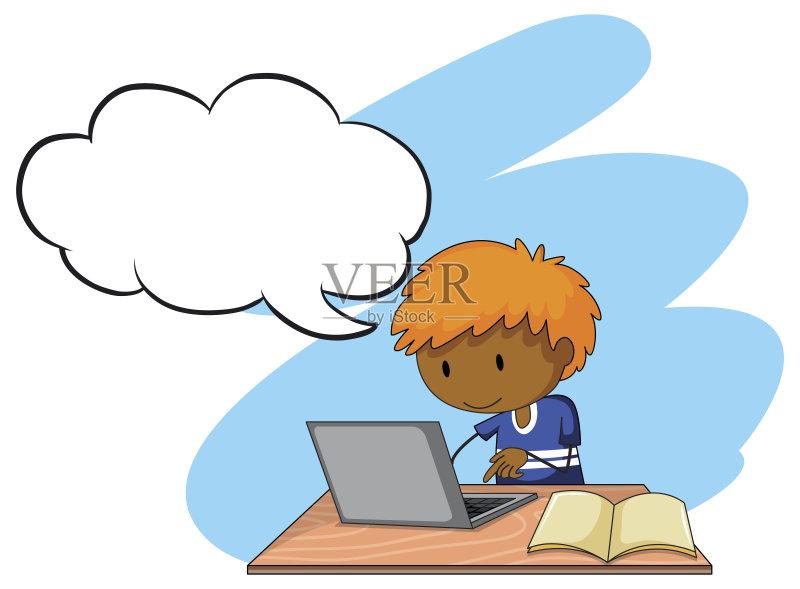 究 儿童 家庭作业 2015年 背景幕 学习 技术 书 智慧 矢量 打字 坐 计算