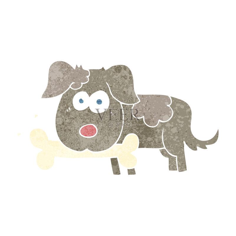 卡通狗-文化 可爱的 绘画插图 乱画 奇异的 矢量 图像特效 狗 画画
