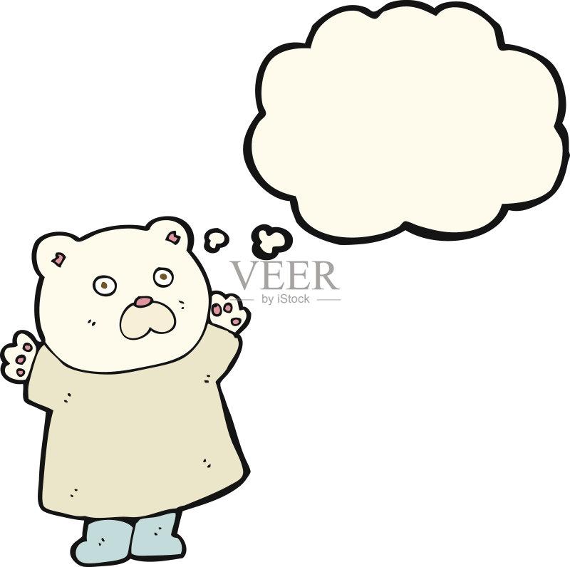 有趣-可爱的 绘画插图 泰迪熊 思想气泡框 画画 快乐 2015年 衣服 乱画 图片