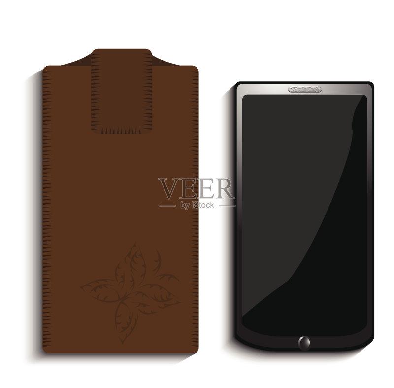 手机壳-技能 远程工作 个人随身用品 绘画插图 包 设备用品 无人 2015