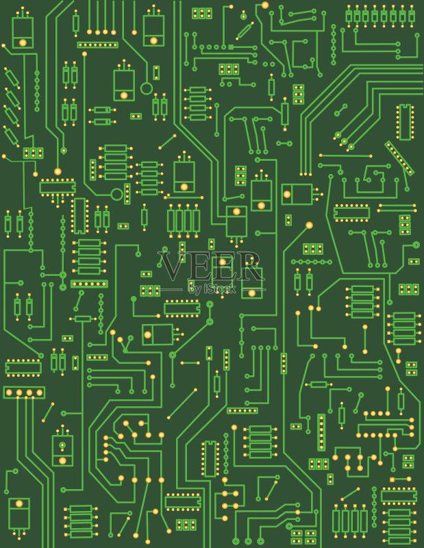 机制图 背景 电路板 复杂性 绿色 半导体 计算机网络 中央处理器 电脑图片