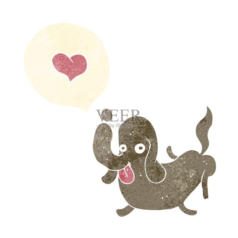 卡通狗-宠物 快乐 2015年 爱 文化 绘画插图 乱画 矢量 剪贴画 狗 画画