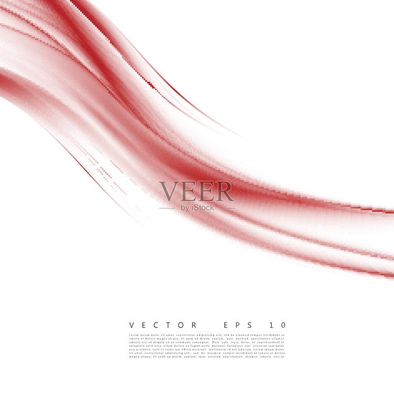 曲线-未来 设计 高雅 白色 演说 光 红色 式样 波形 柔和 形状 白昼 传单