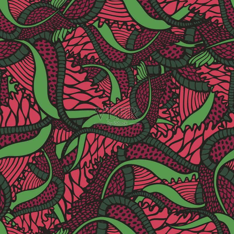 无缝的样式 美术工艺 装饰物 纺织品 艺术 无人 2015年 花 复古风格