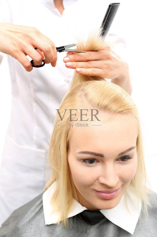头发 自然美 理发剪刀 时尚 美 学生 发型 美发师 剪头发 剪刀 染发 梳