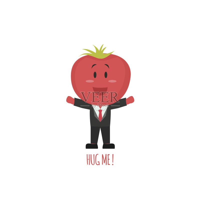 有趣-幽默 西红柿 绘画插图 卡通 蔬菜 符号 乐趣 自然 素食 快乐 食品 图片