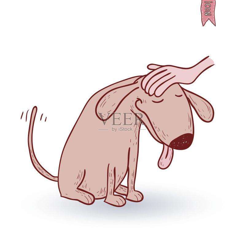 卡通狗-收集 吉祥物 站 计算机制图 纯种犬 剪贴画 小狗 幽默 犬科的 讽