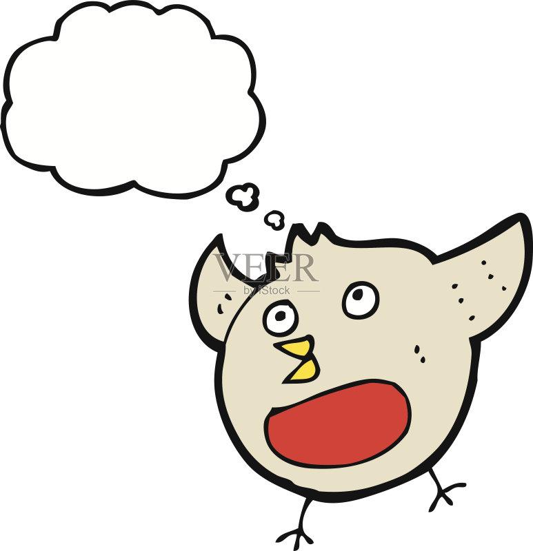 有趣-粗糙的 可爱的 绘画插图 思想气泡框 画画 快乐 2015年 乱画 奇异图片