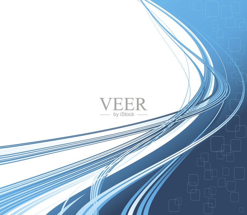 曲线-高雅 白色 网站模板 想法 形状 新创企业 背景幕 技术 弯曲 部分 色
