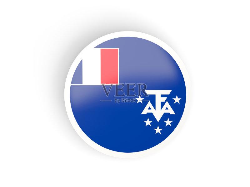 旗 无人 三维图形 2015年 计算机图标 旅行 弯曲 法属南部领地 爱国主