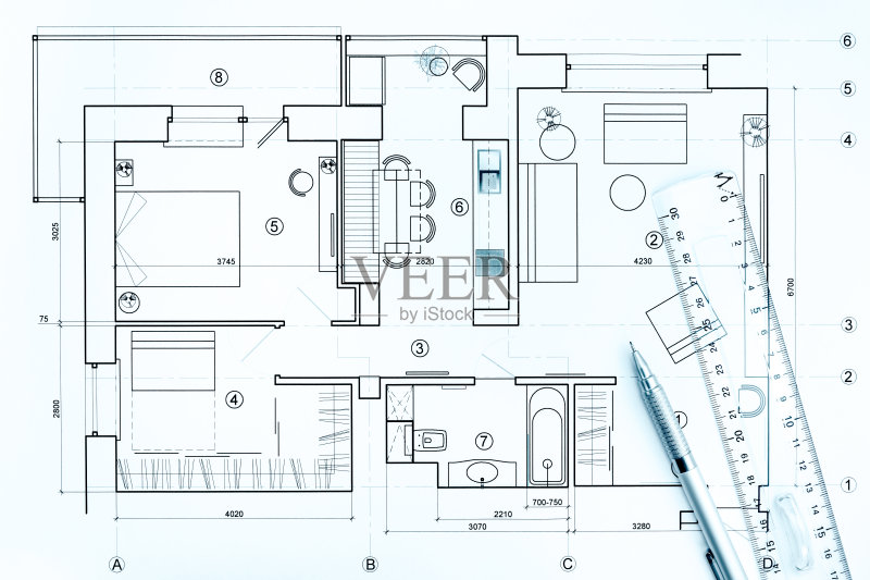 图纸-做计划 设计 蓝图 商业金融和工业 文档 建筑业 普通住宅区 线条
