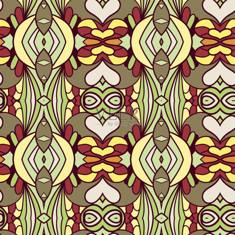 无缝的样式 美术工艺 装饰物 纺织品 设计元素 壁纸 艺术 古典式 复古风