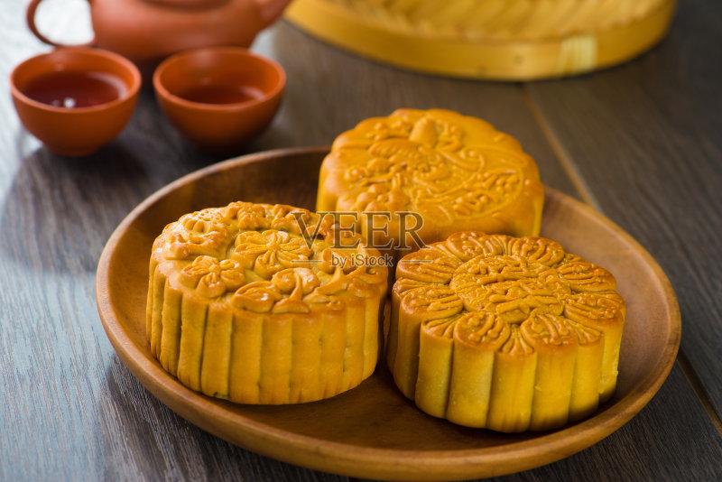 食品 装饰 月饼 餐馆 杯 多色的 庆祝 蛋黄 背景 甜点心