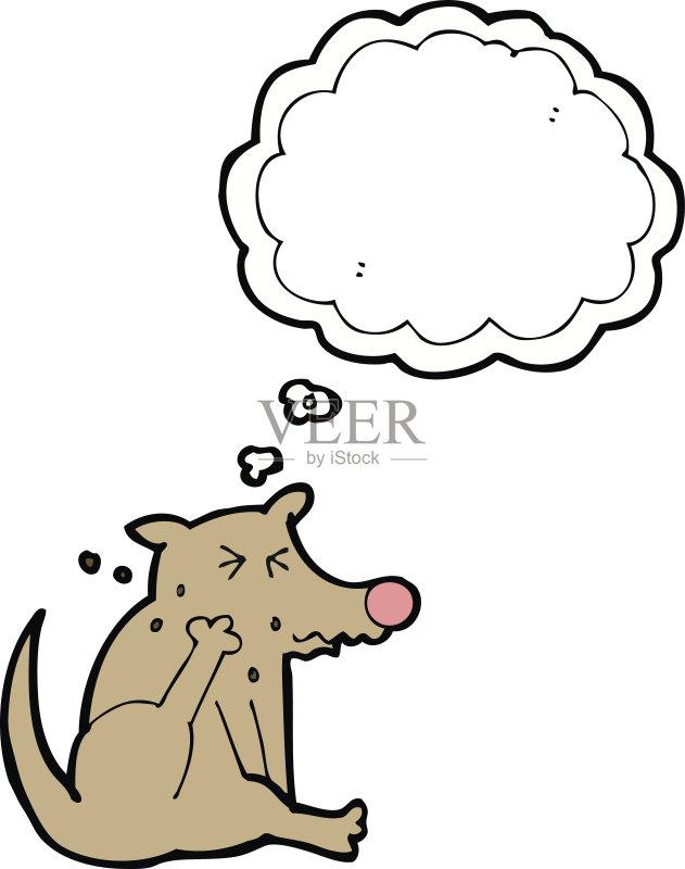 卡通狗-快乐 抓 文化 绘画插图 乱画 剪贴画 狗 思想气泡框 画画
