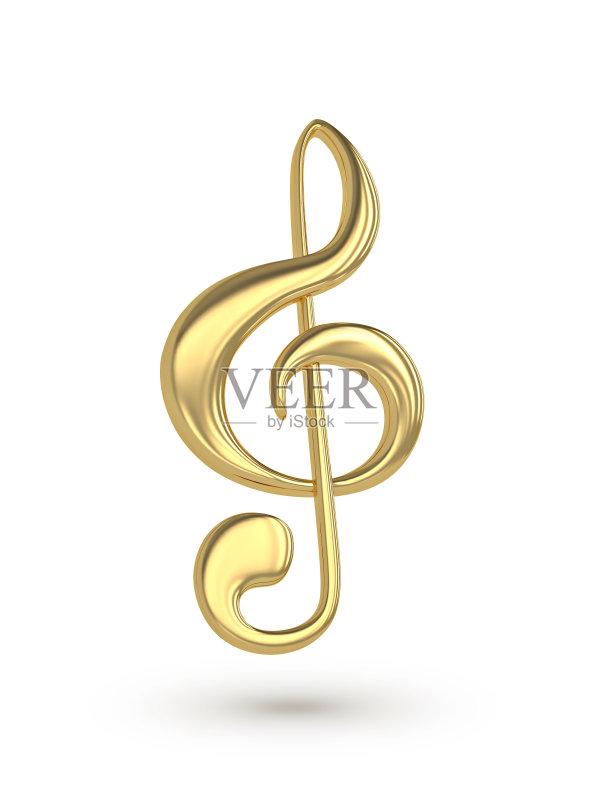 高音谱号 计算机制图 金色 音符 文字 唱 噪声 琴弦 美术工艺 标志 艺术