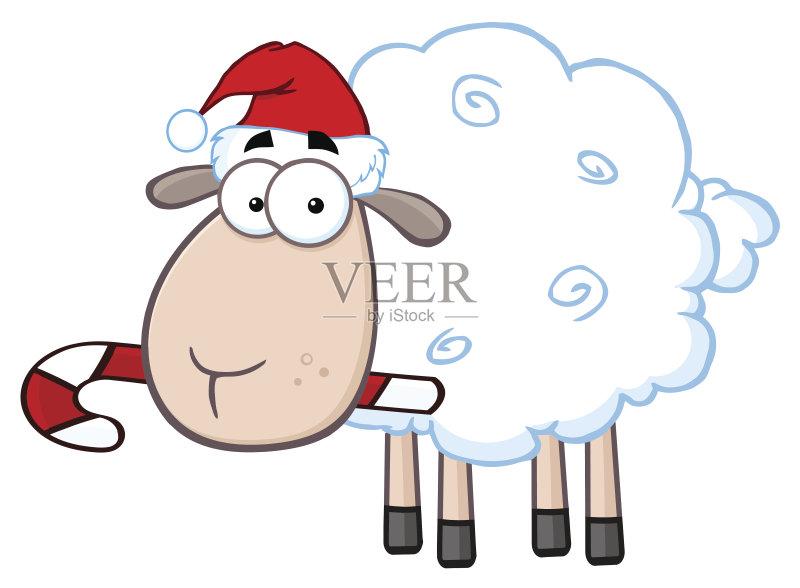 计算机制图 剪贴画 圣诞节 微笑 性格 幽默 绘画插图 牲畜 动物 绘画艺