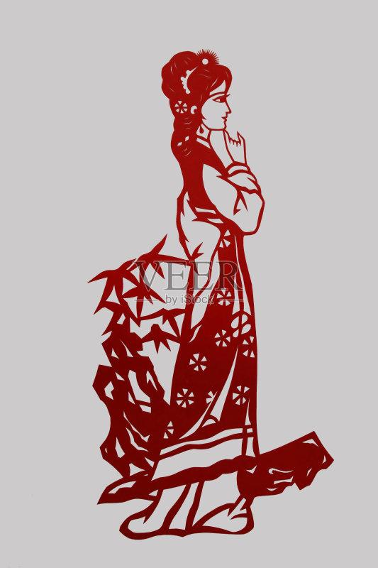 剪纸-文化 欢乐 剪羊毛 许愿 材料 红色 符号 亚洲 文章 中国 装饰 技术 图片