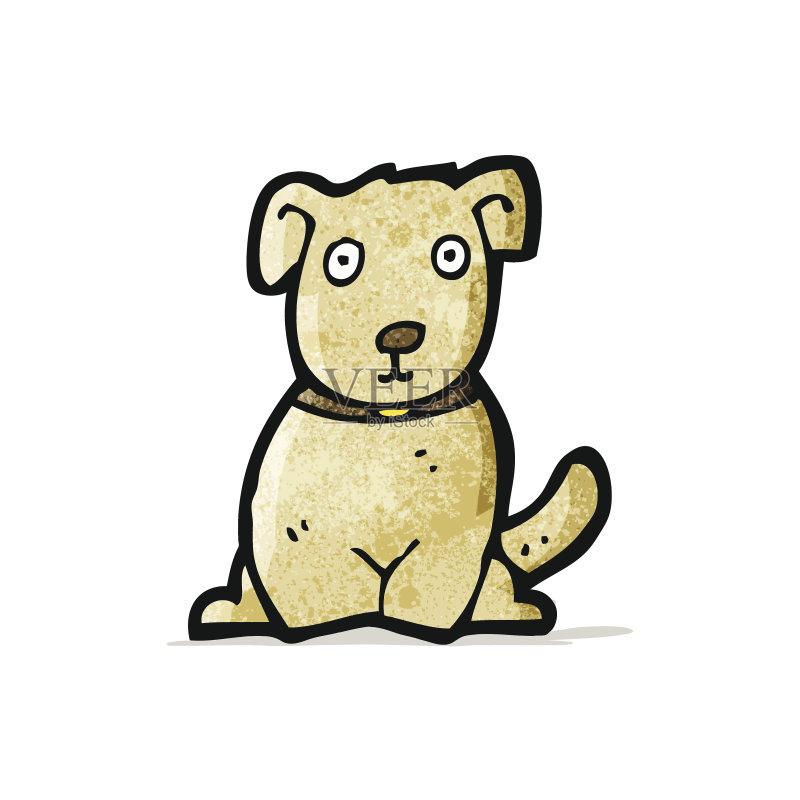 卡通狗-无人 文化 可爱的 绘画插图 乱画 小的 奇异的 矢量 剪贴画 狗