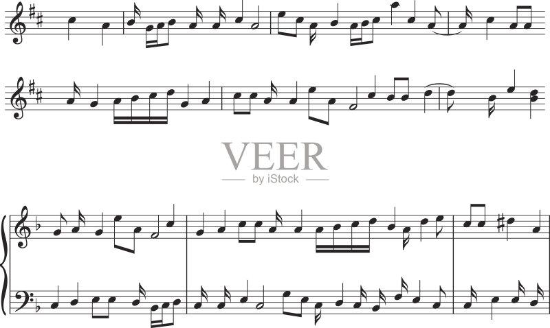 爵士乐 符号 五线谱 乐谱 表演艺术活动 标志 线条 设计元素 艺术 无人