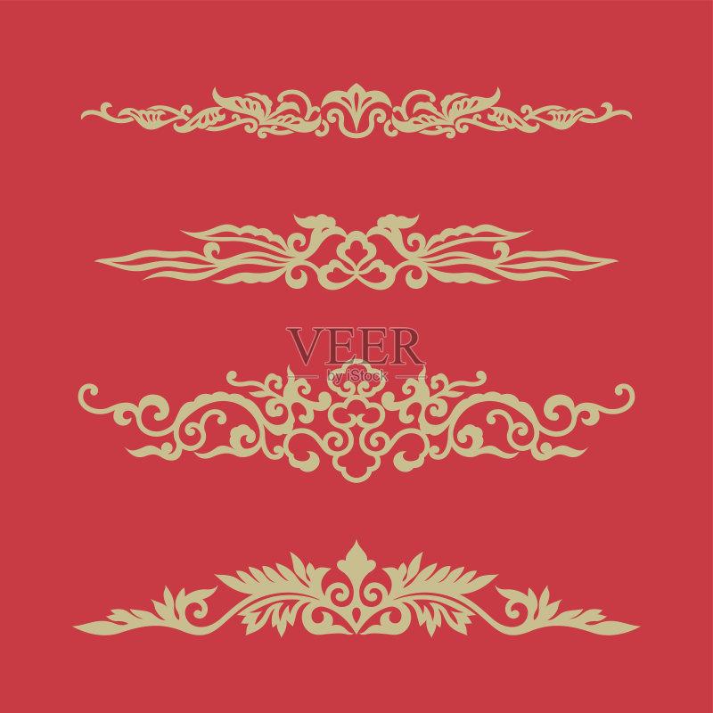 式样 形状 祝福 东亚文化 亚洲 中国 装饰 弯曲 部分 圣诞节 对称 圣诞图片