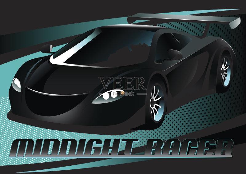 计算机制图 汽车 玩具 暗色 绘画插图 斑点 夜晚 轿车 体育比赛 无人 图片