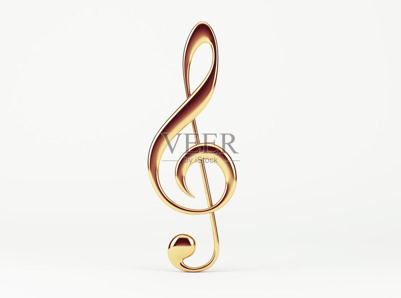 艺术 无人 三维图形 音乐 高音谱号 黄金 华丽的 艺术文化和娱乐 计算
